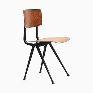 Result Pagholz Oak & Black Metal Chair by Friso Kramer for Ahrend De Cirkel, 1950s