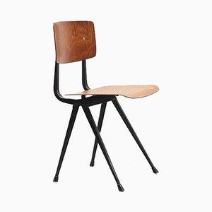 Result Pagholz Oak & Black Metal Chair by Friso Kramer for Ahrend De Cirkel, 1950s