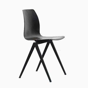 S19 Stuhl aus Ebenholz & schwarzem Metall von Galvanitas, 1960er