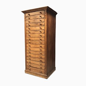 Dutch Oak Bank of Drawers, 1900s