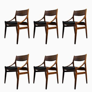 Scandinavian Rosewood Chairs by Vestervig Eriksen for BRDR Tromborg, 1960s, Set of 6
