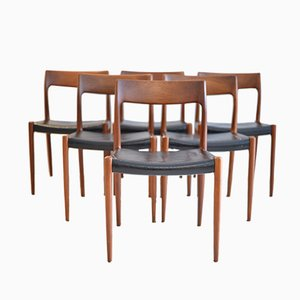 No.77 Teak Dining Chairs by Niels Otto Möller for J.L. Möller, 1964, Set of 6