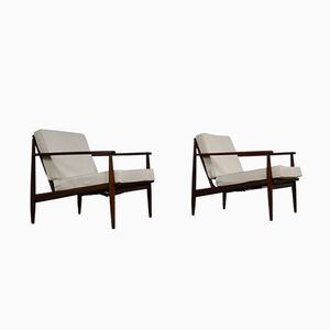 Scandinavian Teak Armchairs by Grete Jalk, 1960s, Set of 2