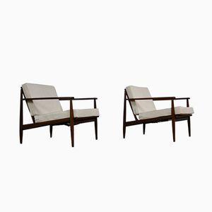 Skandinavische Armlehnstühle aus Teak von Grete Jalk, 1960er, 2er Set