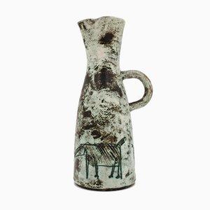 Französische Mid-Century Karaffe aus Keramik von Jacques Blin, 1950er
