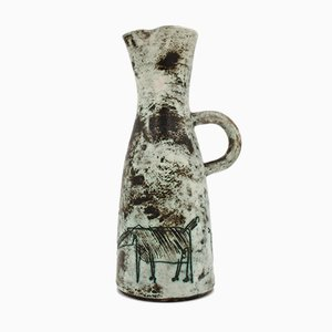 Mid-Century French Ceramic Carafe by Jacques Blin, 1950s