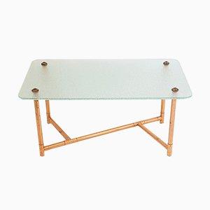 Table Basse en Verre & en Cuivre, 1950s