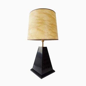 Lámpara de mesa Pyramid vintage, años 70