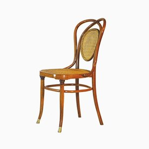 Brass & Curved Wood N ° 33 Chair from Kohn, 1895