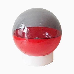 Lámpara de mesa era espacial de plástico, años 70