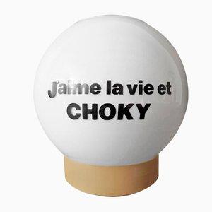 Lámpara de mesa publicitaria Choky vintage, años 70