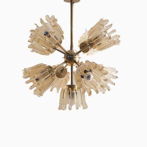 Vintage Sputnik Glass Chandelier from Doria Leuchten