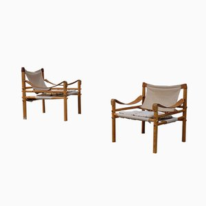 Sirocco Easy Chairs by Arne Norell, 1960s, Set of 2