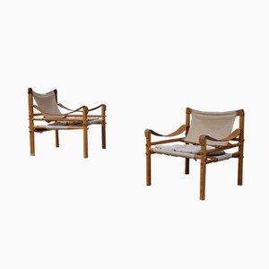 Sirocco Lehnstühle von Arne Norell, 1960er, 2er Set