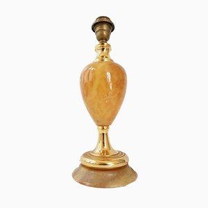 Lámpara de mármol y latón con base en forma de piña, años 70