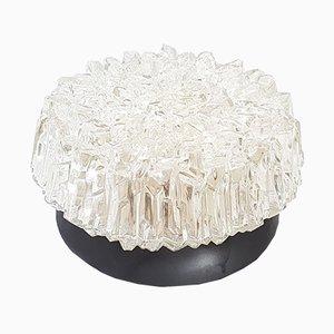 Vintage Decken- oder Wandlampe aus Metall & Glas
