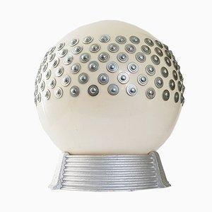 Lampada sferica Space Age in plexiglas e gesso di Maison Arlus, anni '70