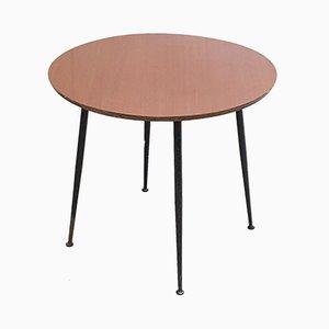Tavolino rotondo vintage in formica e acciaio
