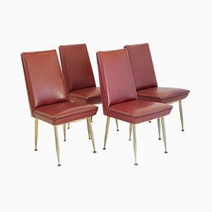 Französische Vintage Stühle aus Kunstleder von Erton, 1950er, 4er Set