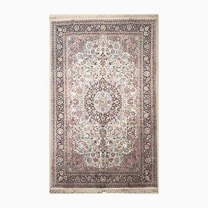 Indischer Vintage Seidenteppich, 1980er