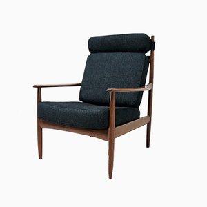 Skandinavische Armlehnstuhl aus Teak von Grete Jalk für Poul Jeppesens Møbelfabrik, 1960er