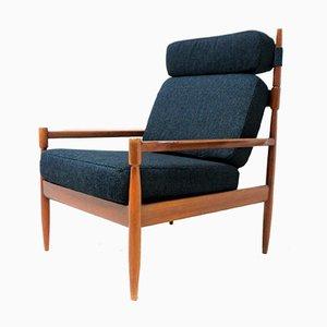 Skandinavischer Armlehnstuhl aus Teak, 1960er