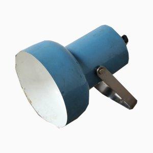 Blaue Mid-Century Wandlampe