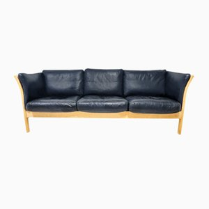 Scandinavian Leather Sofa, 1970s