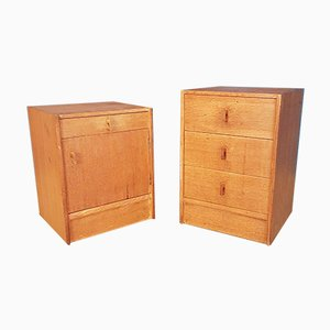 Oak Cabinets from Stag, 1970s, Set of 2