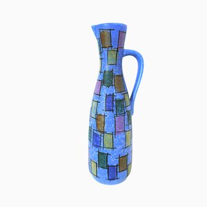 West German Blue Modernist Pitcher from Jasba, 1950s
