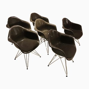 Fiberglass Armchairs by Charles & Ray Eames for Vitra, 1970s, Set of 6