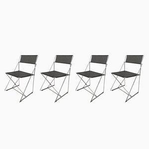 Chaises X-Line par Niels Jørgen Haugesen pour Hybodan, 1970s, Set de 4