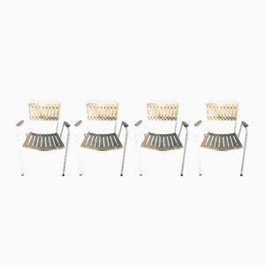 Chaises de Jardin Vintage Empilables de Daneline, Danemark, Set de 4