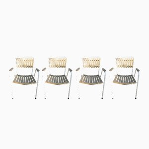 Vintage Danish Stacking Garden Chairs from Daneline, Set of 4