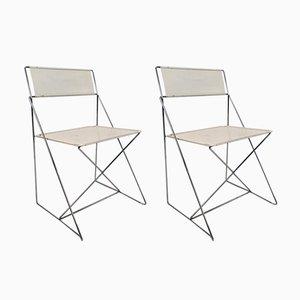X-Line Stühle von Niels Jørgen Haugesen für Hybodan, 1970er, 2er Set