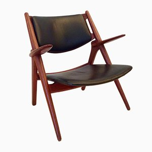 CH28 Sawbuck Armchair by Hans J. Wegner for Carl Hansen & Søn, 1960s