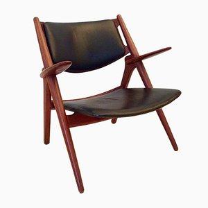 CH28 Sawbuck Armlehnstuhl von Hans J. Wegner für Carl Hansen & Søn, 1960er