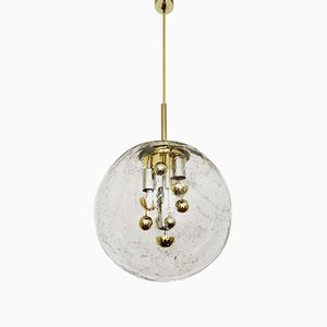Lámpara colgante bicolor grande de Doria Leuchten, años 60