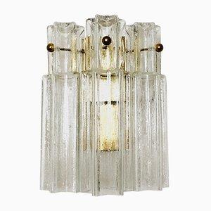 Golden Wandlampe aus Eisglas von Limburg, 1960er