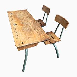 Vintage Schultisch, 1960er