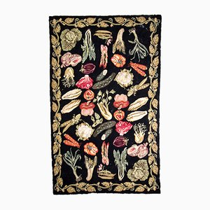 Antique American Hooked Rug, 1910s