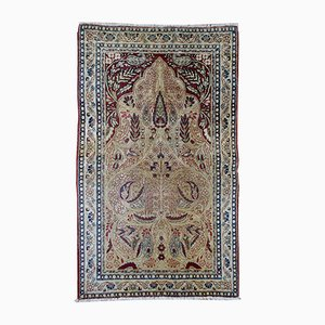 Antique Middle Eastern Kerman Lavar Rug, 1880s