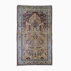 Antique Middle Eastern Kerman Lavar Rug, 1880s
