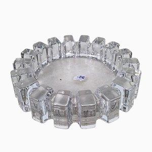 Großer brutalistischer Aschenbecher/Schüssel aus Blei & Kristallglas von ACC Japan, 1950er