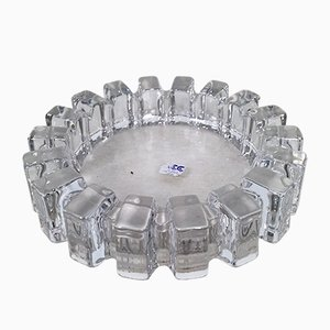 Large Brutalist Lead Crystal Ashtray/Bowl from ACC Japan, 1950s