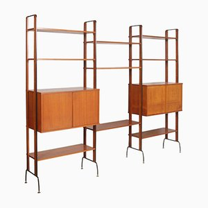 Italian Mid-Century Wall Unit from La Permanente Mobili Cantù, 1950s