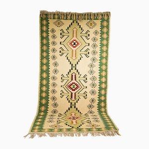 Großer handgewebter marokkanischer Vintage Kelim Teppich
