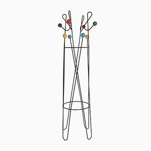 Mid-Century French Coat Rack by Roger Feraud, 1950s