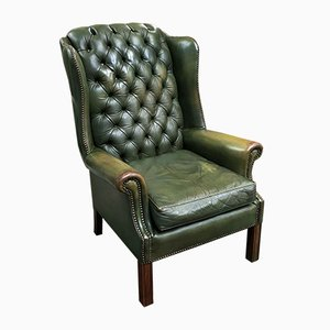Green Chesterfield Armchair, 1970s
