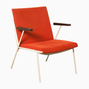 Red Oase Chair by Wim Rietveld for Ahrend De Cirkel, 1980s